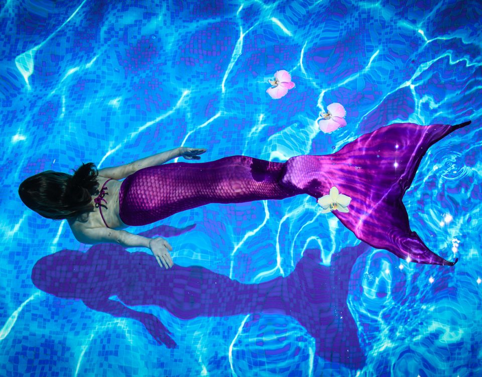 Mermaid-SChwimmen in der Friesentherme Emden