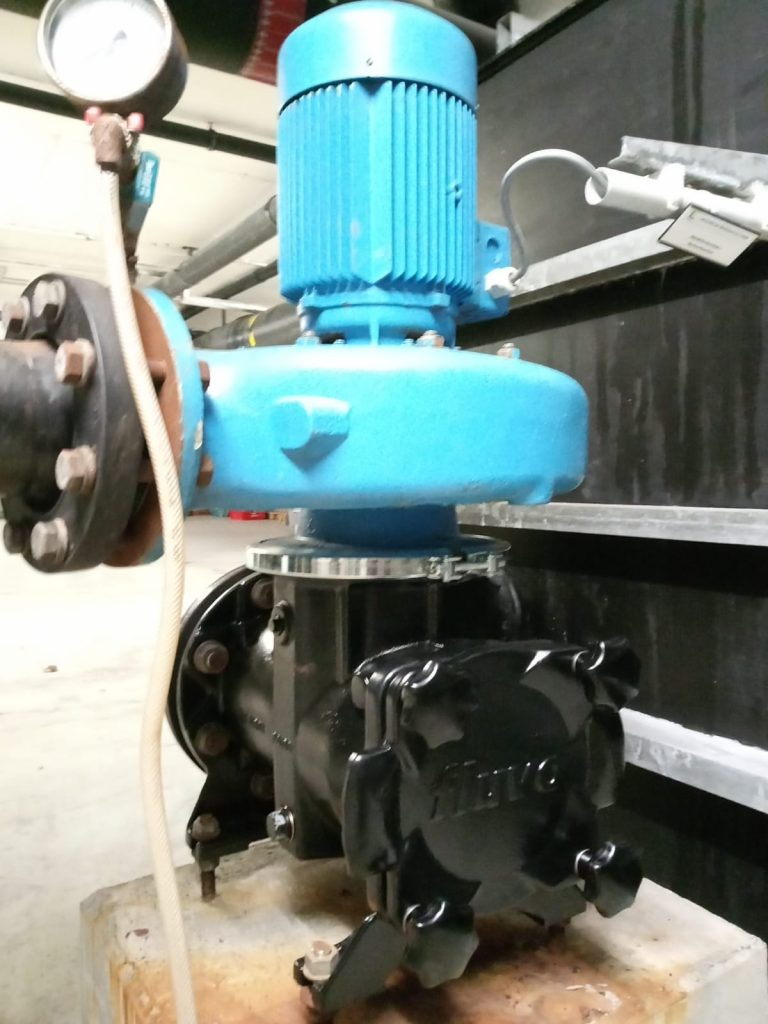 Neu verbautes Pumpengehäuse
