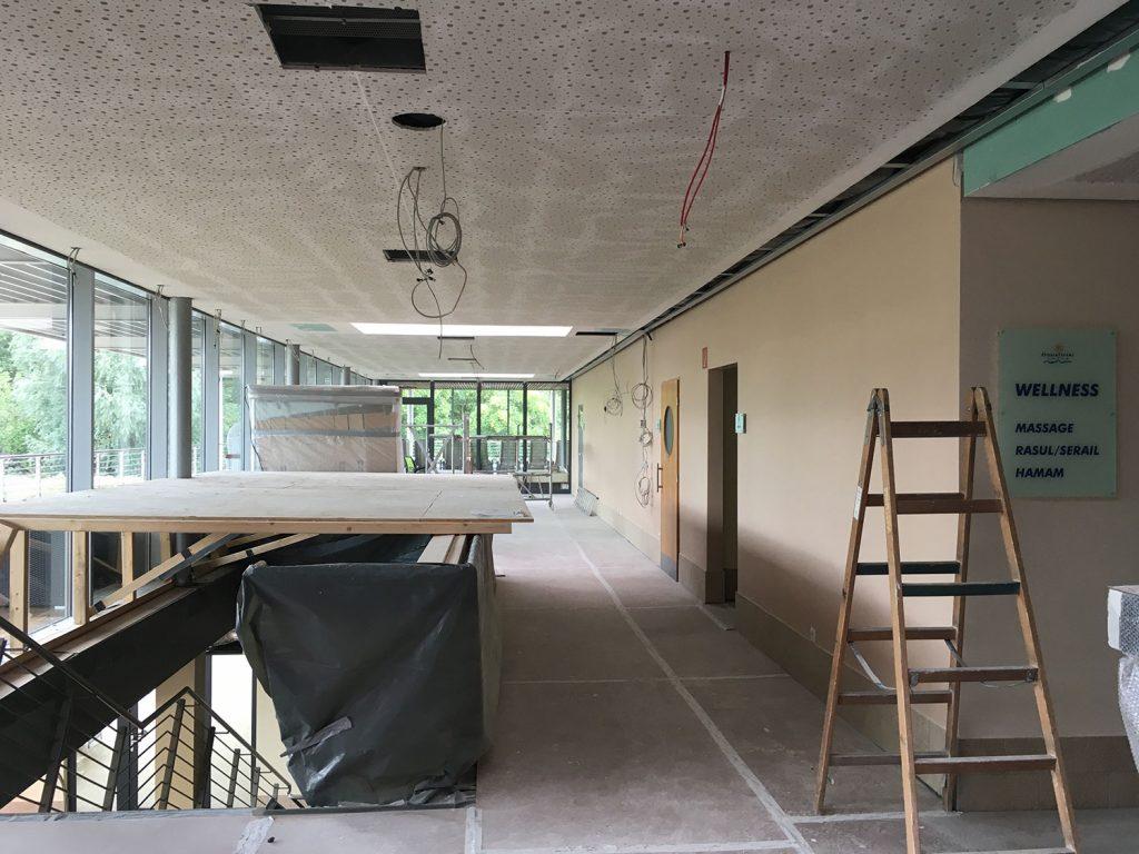 Ausschnitte im Obergeschoss des Saunabereichs