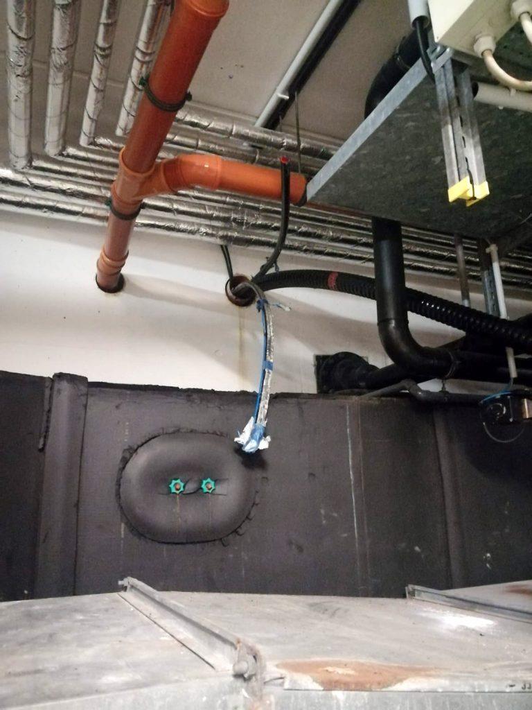 Kernbohrung auf der Kellerseite