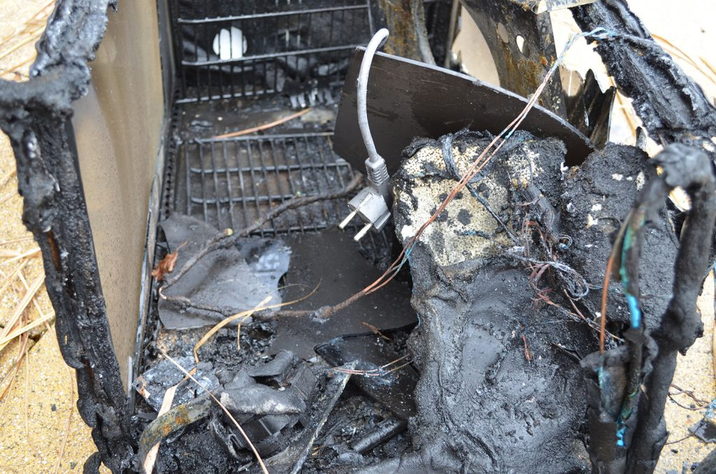 Der Brandauslöser in der Friesentherme ist eine Kühlvitrine