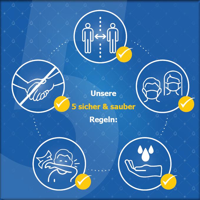 Unsere 5 sicher & sauber Regeln